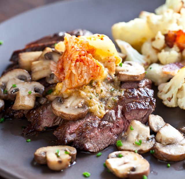 Steak with Kimchi Butter |